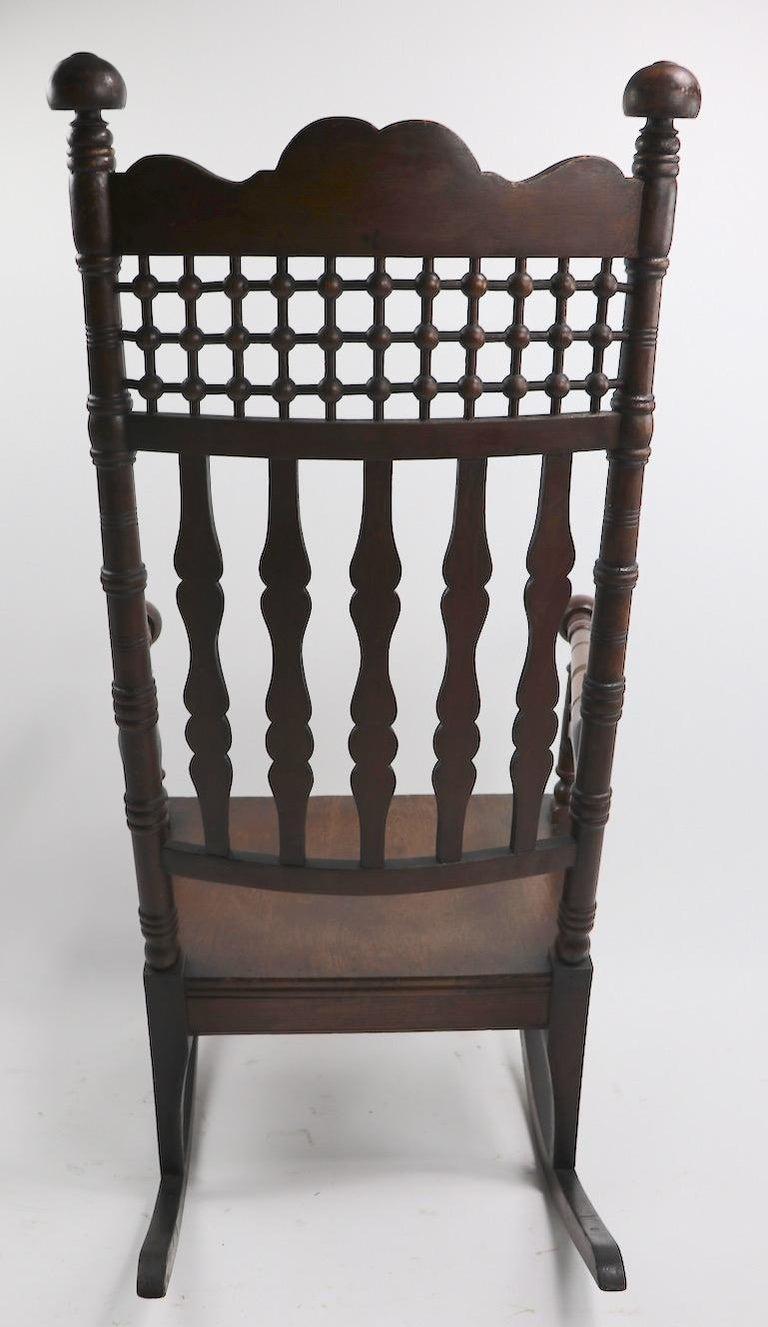 Brilliant 19Th Century Oak Rocking Chair Attributed To Merklen Brothers Machost Co Dining Chair Design Ideas Machostcouk