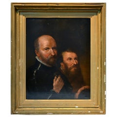 17th or 18th Century English Portrait of Two Bearded Gentlemen