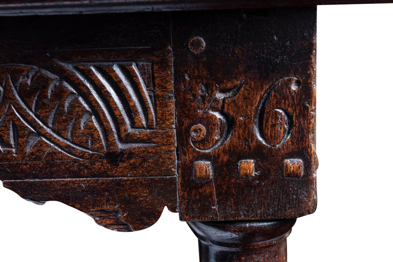 Charles II A 17th Century English Cromwellian Oak Refectory Table For Sale