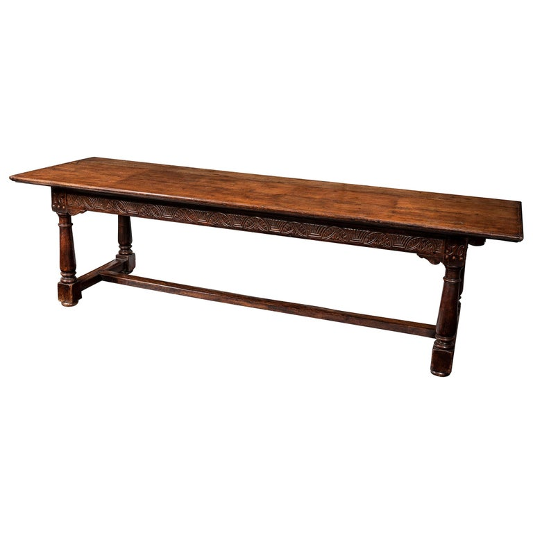 A 17th Century English Cromwellian Oak Refectory Table For Sale