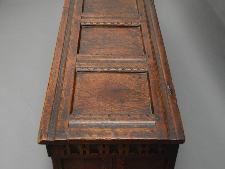 17th Century English Oak Chest For Sale 1