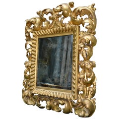 19th Century Gilt Wood Framed Italian Baroque Style Mirror