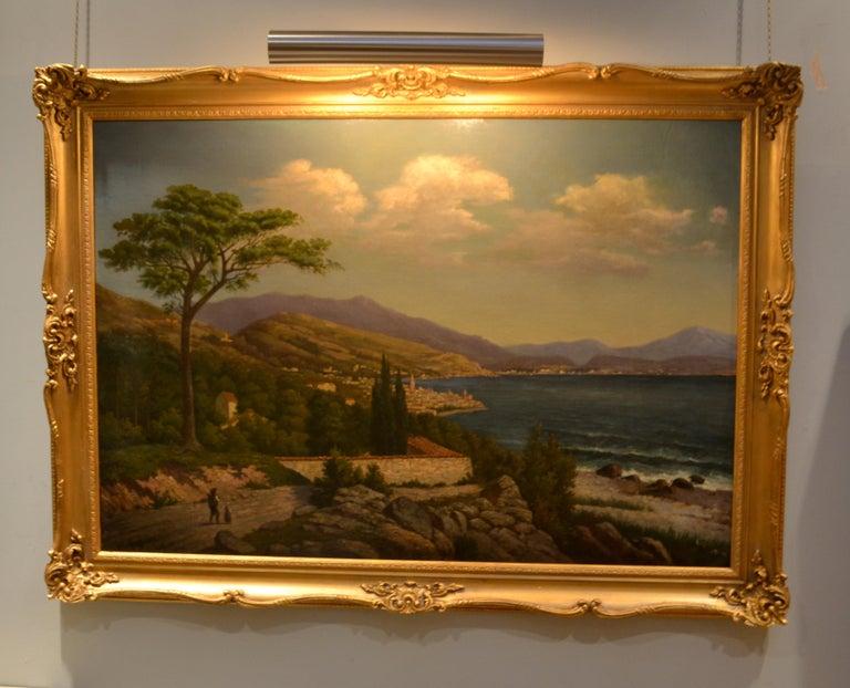 19th Century Northern Italian Landscape around Lake Como by Karl Kaufman For Sale 4