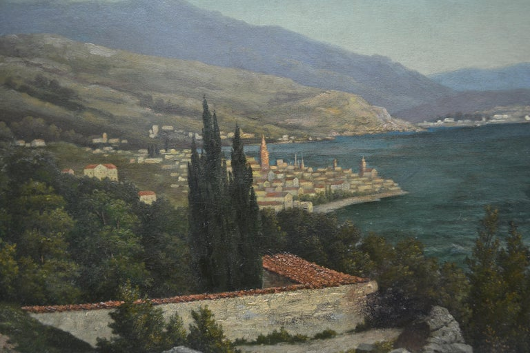 19th Century Northern Italian Landscape around Lake Como by Karl Kaufman In Good Condition For Sale In Vancouver, British Columbia