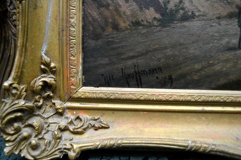19th Century Northern Italian Landscape around Lake Como by Karl Kaufman For Sale 2
