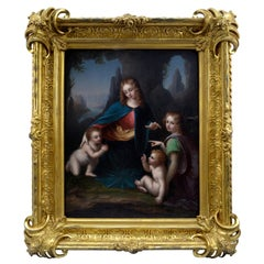 "19th Century Painting of the ""Madonna of the Rocks"" after Leonardo Da Vinci"