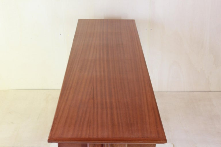 1950 Mahogany Vintage Console Table For Sale 7