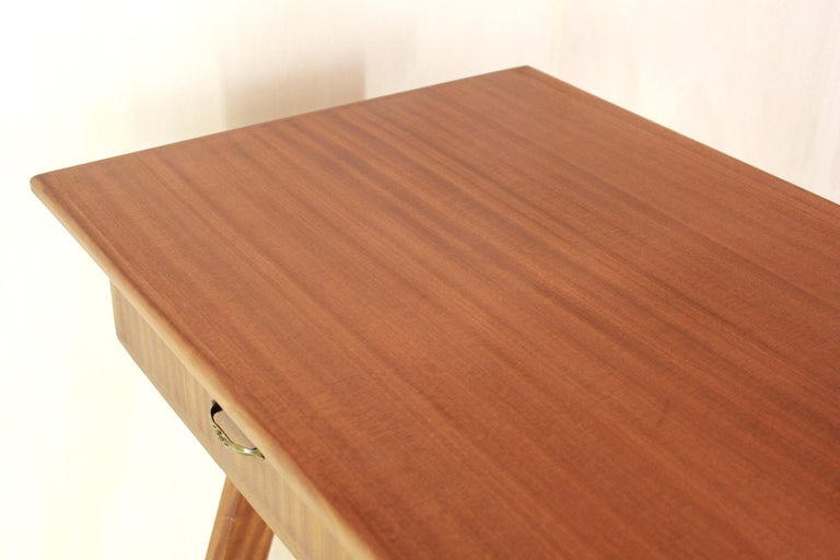 1950 Mahogany Vintage Console Table For Sale 8