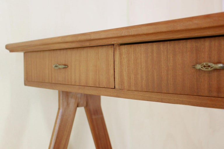 1950 Mahogany Vintage Console Table For Sale 9