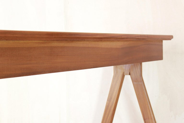 1950 Mahogany Vintage Console Table For Sale 13