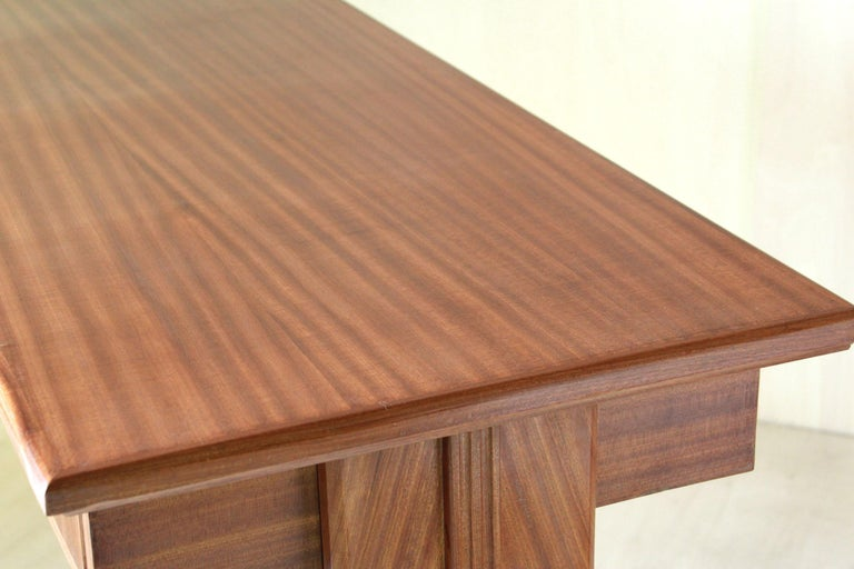 1950 Mahogany Vintage Console Table For Sale 3