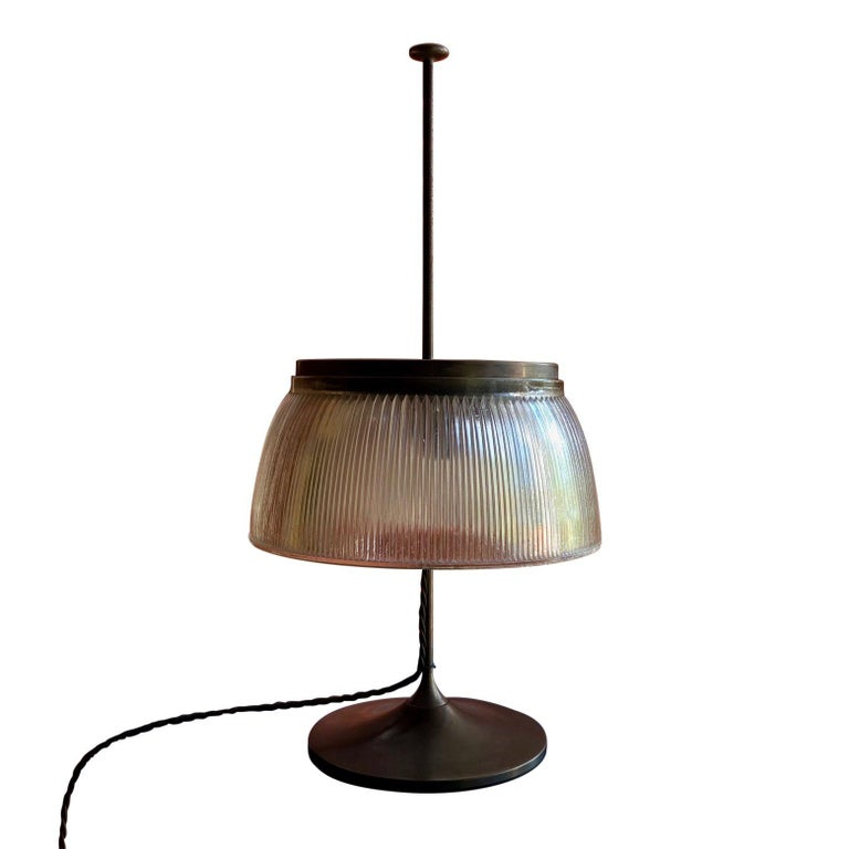 20th Century 1960's Desk or Table Lamp, Metal and Glass, Attrtibuted to Tito Agnoli, O-Luce For Sale