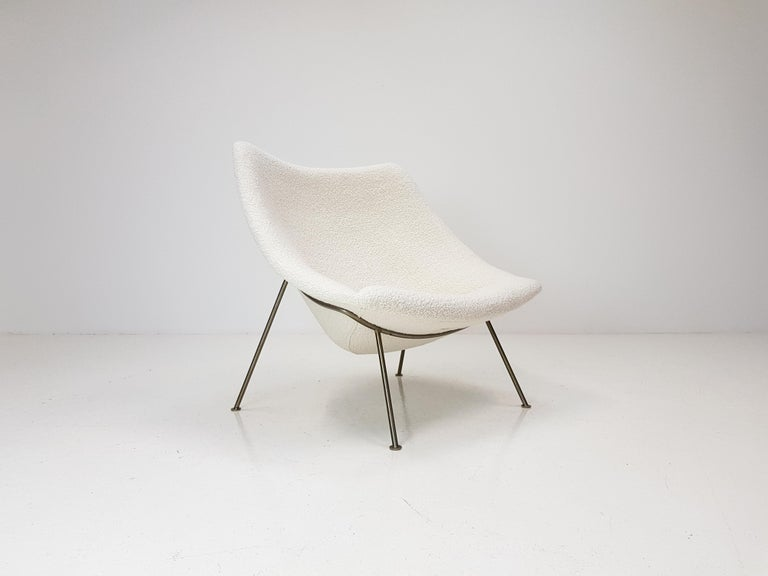 1960s Pierre Paulin Oyster Chair for Artifort in Bouclé Fabric For Sale 6