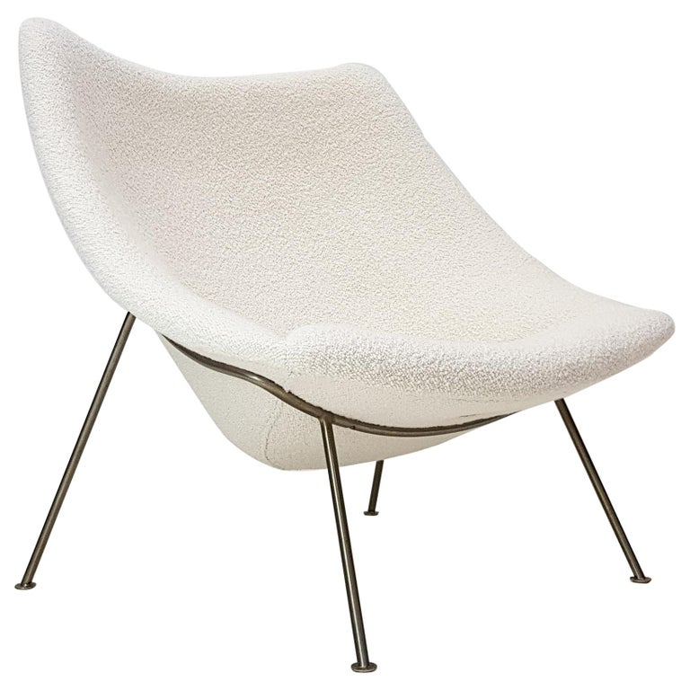 1960s Pierre Paulin Oyster Chair for Artifort in Bouclé Fabric For Sale