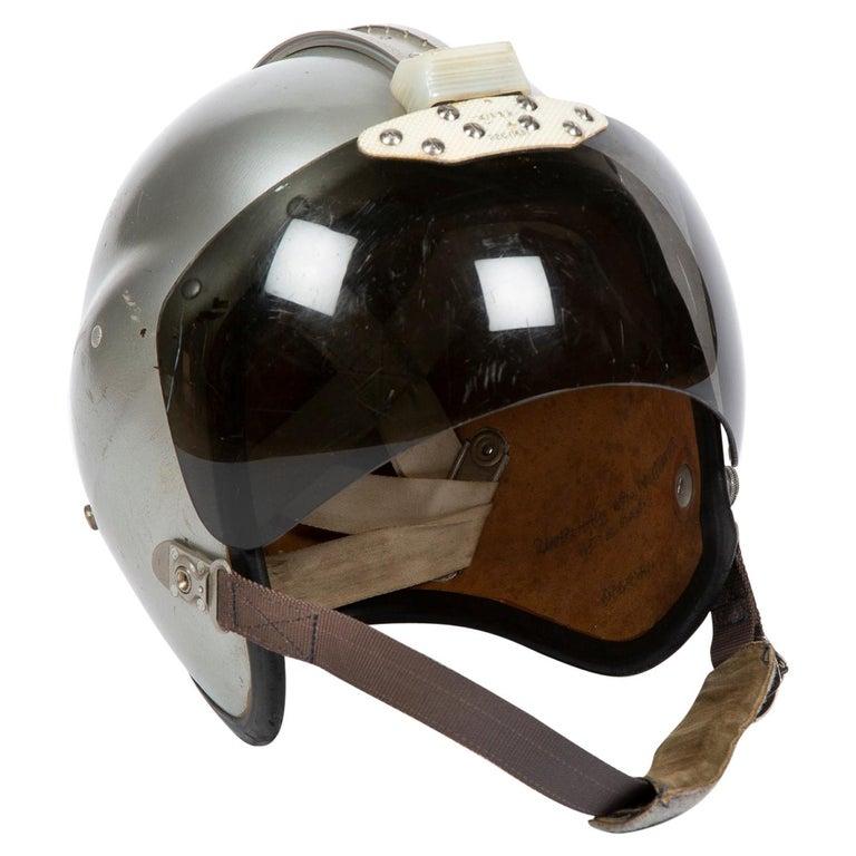 "A 1960's RAF ""Bone Dome"" pilot's helmet For Sale"