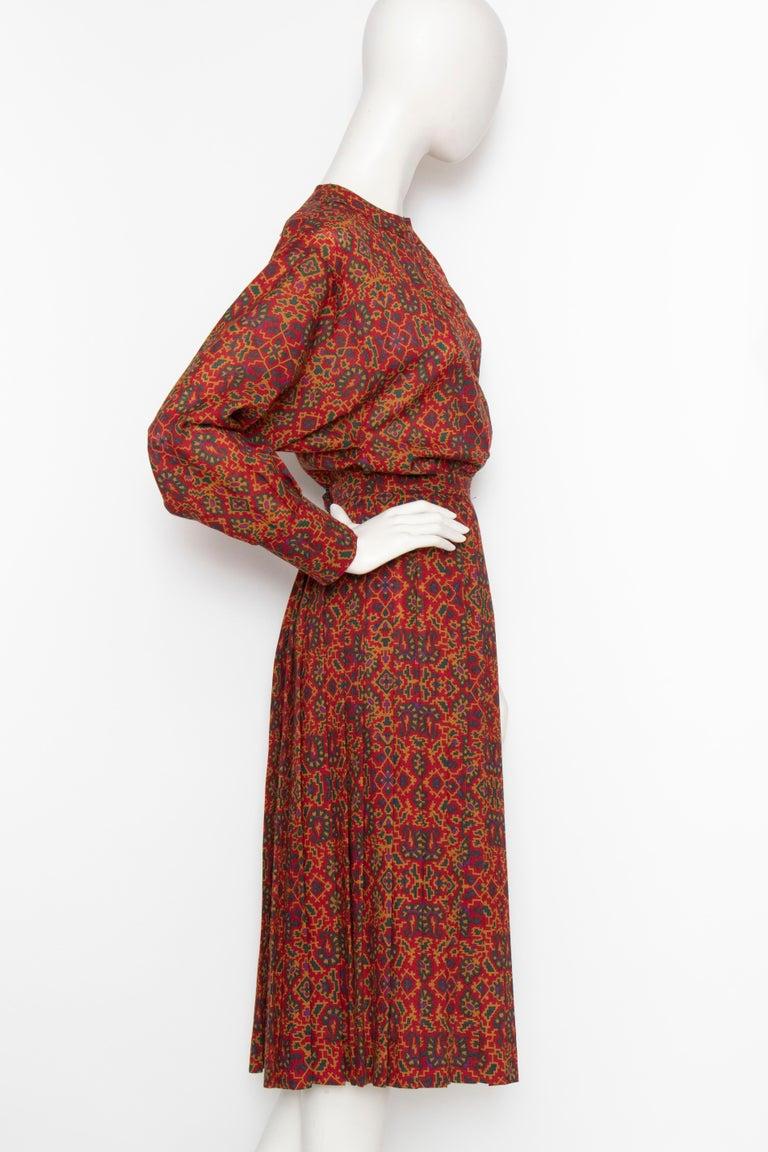 Brown A 1970s Vintage Yves Saint Laurent Rive Gauche Two-Piece Wool Dress