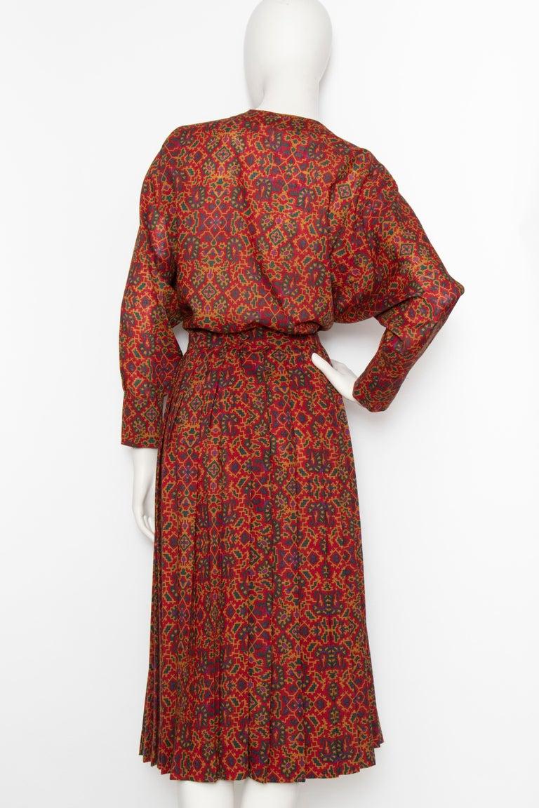 Women's or Men's A 1970s Vintage Yves Saint Laurent Rive Gauche Two-Piece Wool Dress
