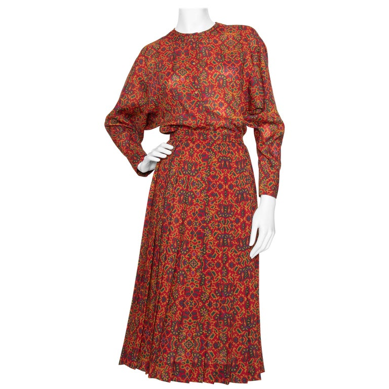 A 1970s Vintage Yves Saint Laurent Rive Gauche Two-Piece Wool Dress