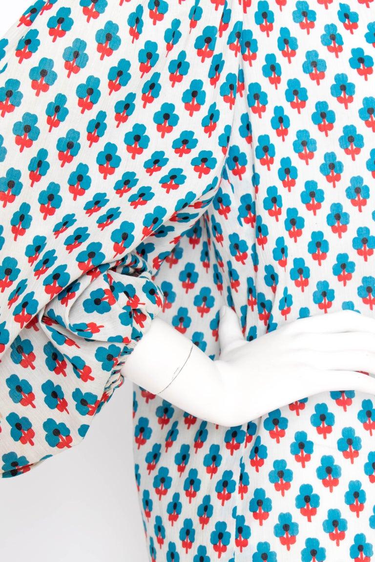 A 1970s Yves Saint Laurent Rive Gauche Sheer Cotton Peasant Blouse 2