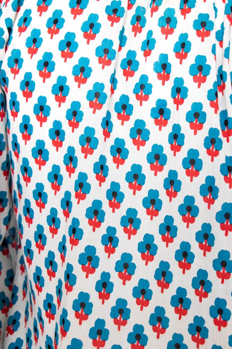 A 1970s Yves Saint Laurent Rive Gauche Sheer Cotton Peasant Blouse 3