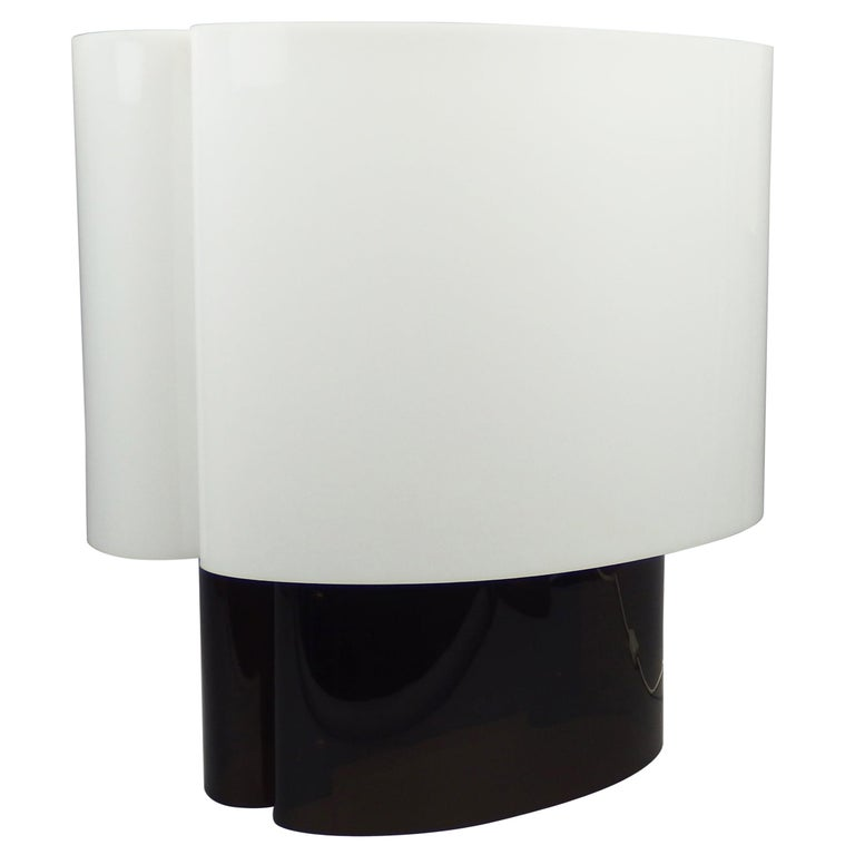 "1970s ""Cyclade"" Plexiglass Table Lamp by Danielle Quarante For Sale"