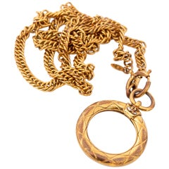 A 1980s Vintage Chanel Magnifying Glass Sautoir Necklace