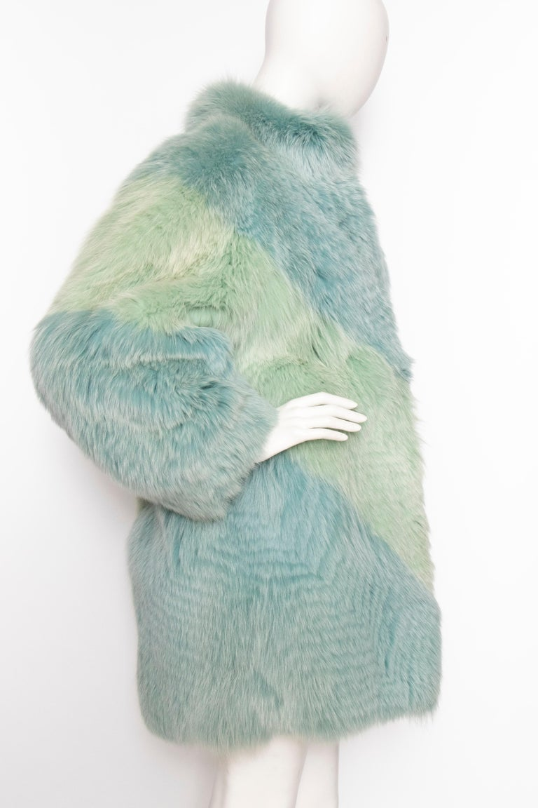 Gray A 1980s Vintage Dyed Fox Fur Coat
