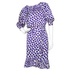 A 1980s Vintage Givenchy Floral Silk Dress XS