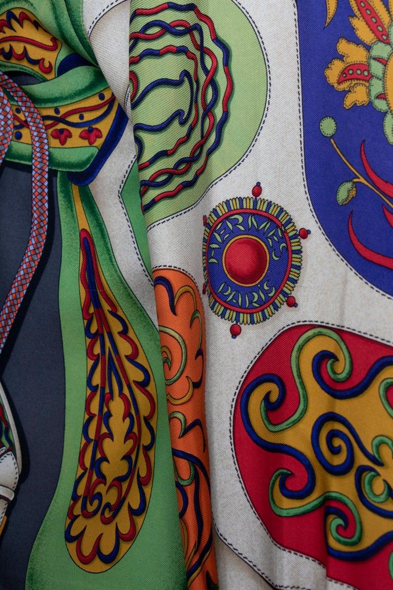A 1980s Vintage Hermès Henri d'Origny Silk Twill Blouse  For Sale 3