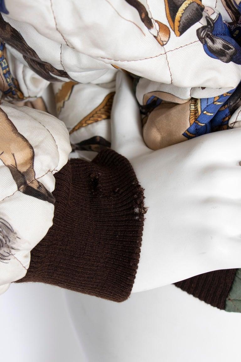 A 1980s Vintage Hermès Reversible Silk 'Reprise' Bomber Jacket  For Sale 4
