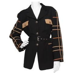 A 1980s Vintage Jean-Charles de Castelbajac Black Wool Jacket