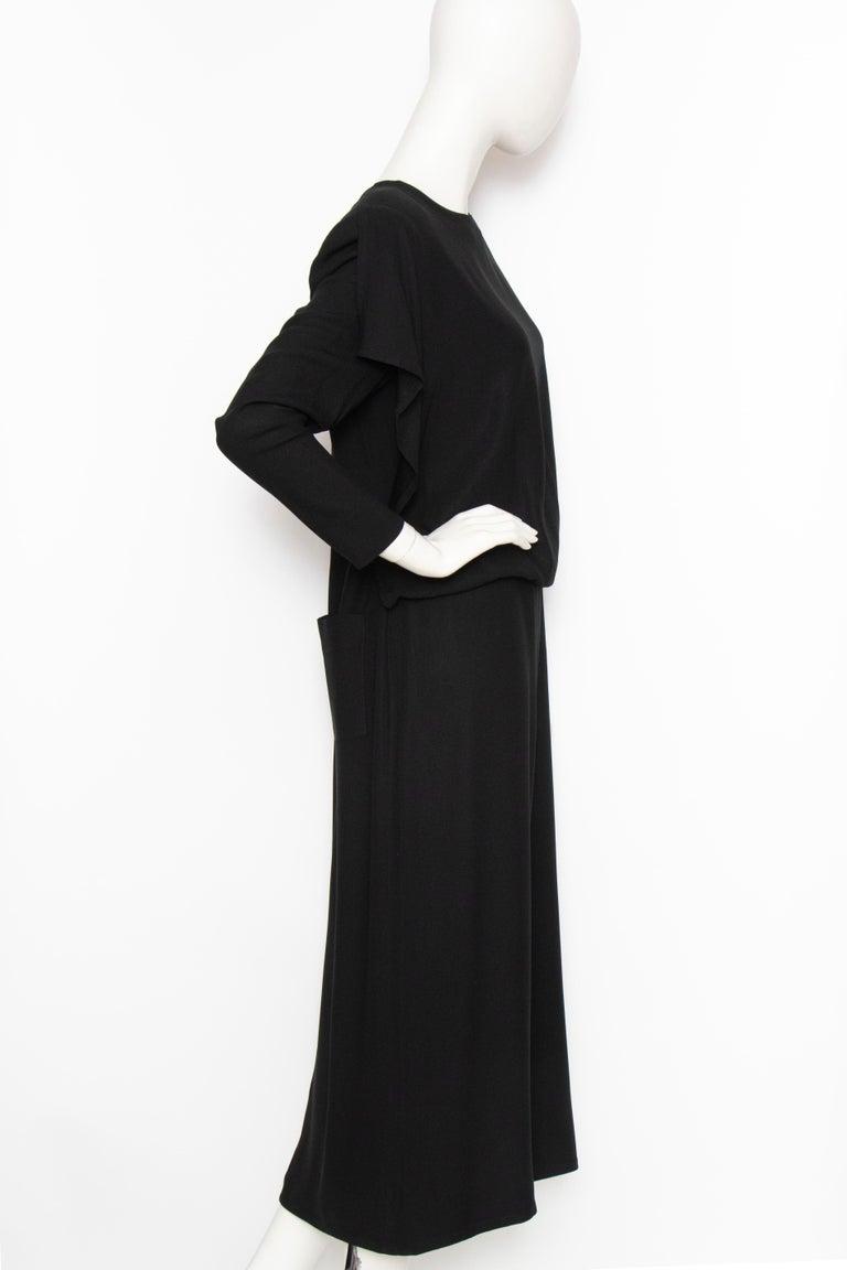A 1980s Vintage Sonia Rykiel Black Evening Dress  In Good Condition For Sale In Copenhagen, DK