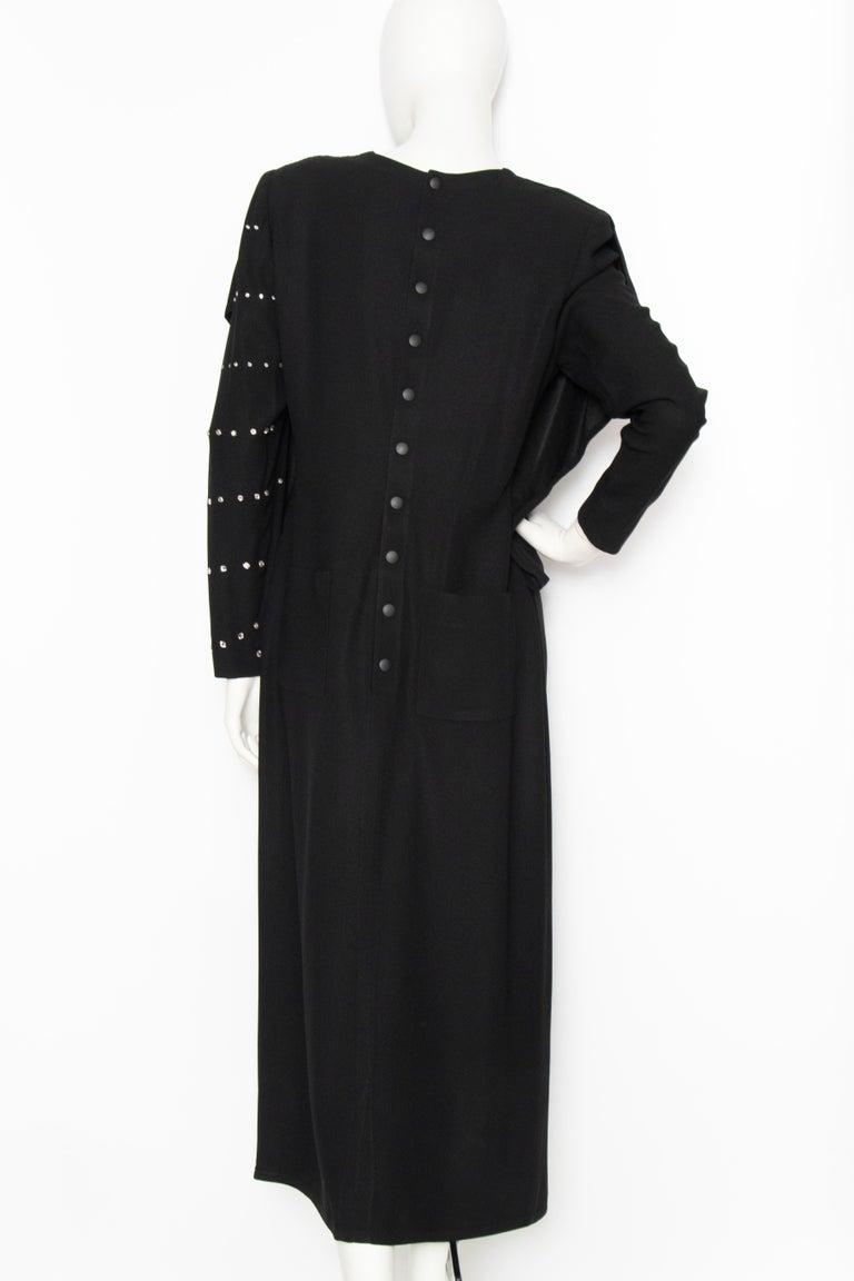 Women's or Men's A 1980s Vintage Sonia Rykiel Black Evening Dress  For Sale