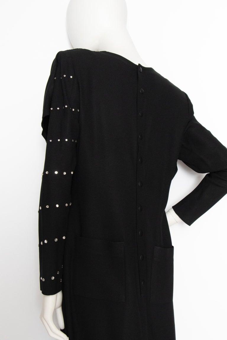 A 1980s Vintage Sonia Rykiel Black Evening Dress  For Sale 1