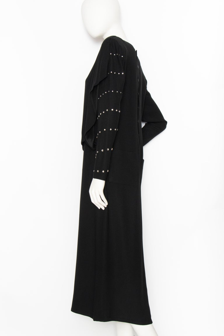 A 1980s Vintage Sonia Rykiel Black Evening Dress  For Sale 2