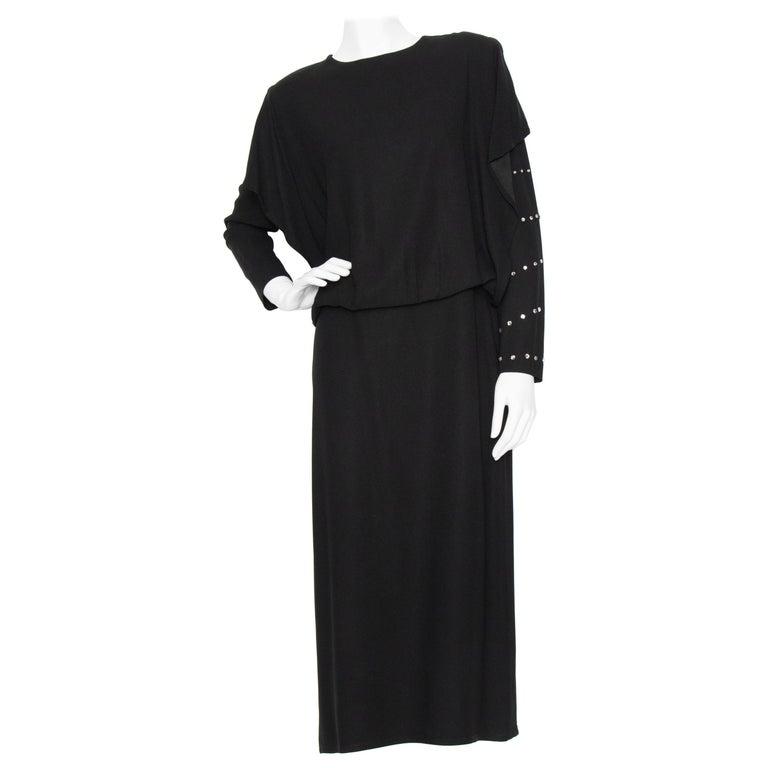 A 1980s Vintage Sonia Rykiel Black Evening Dress  For Sale