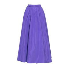 A 1980s Vintage Yves Saint Laurent Rive Gauche Purple Silk Taffeta Skirt