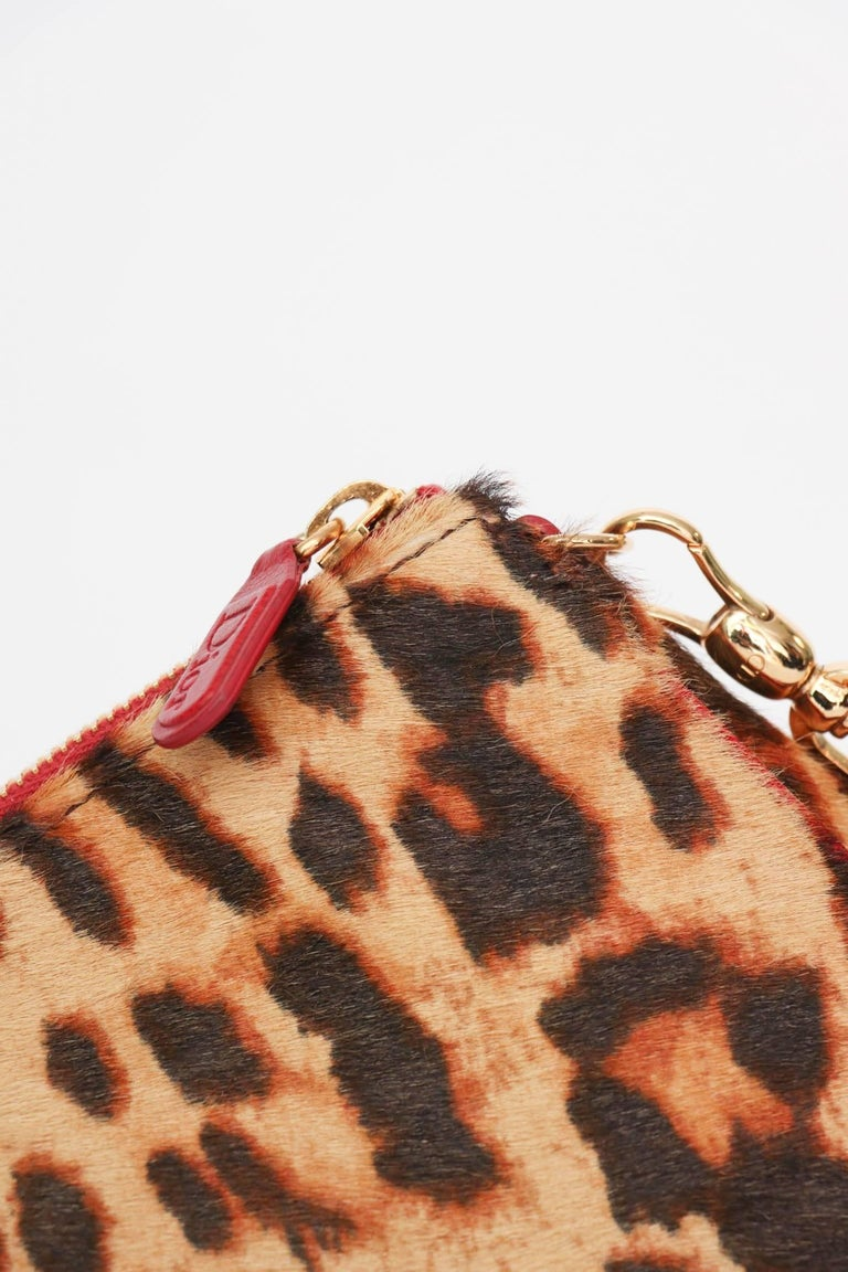 5b5dd397f3fb A 1990s Vintage Christian Dior Animal Printed Pony Hair Saddle Bag In Good  Condition For Sale