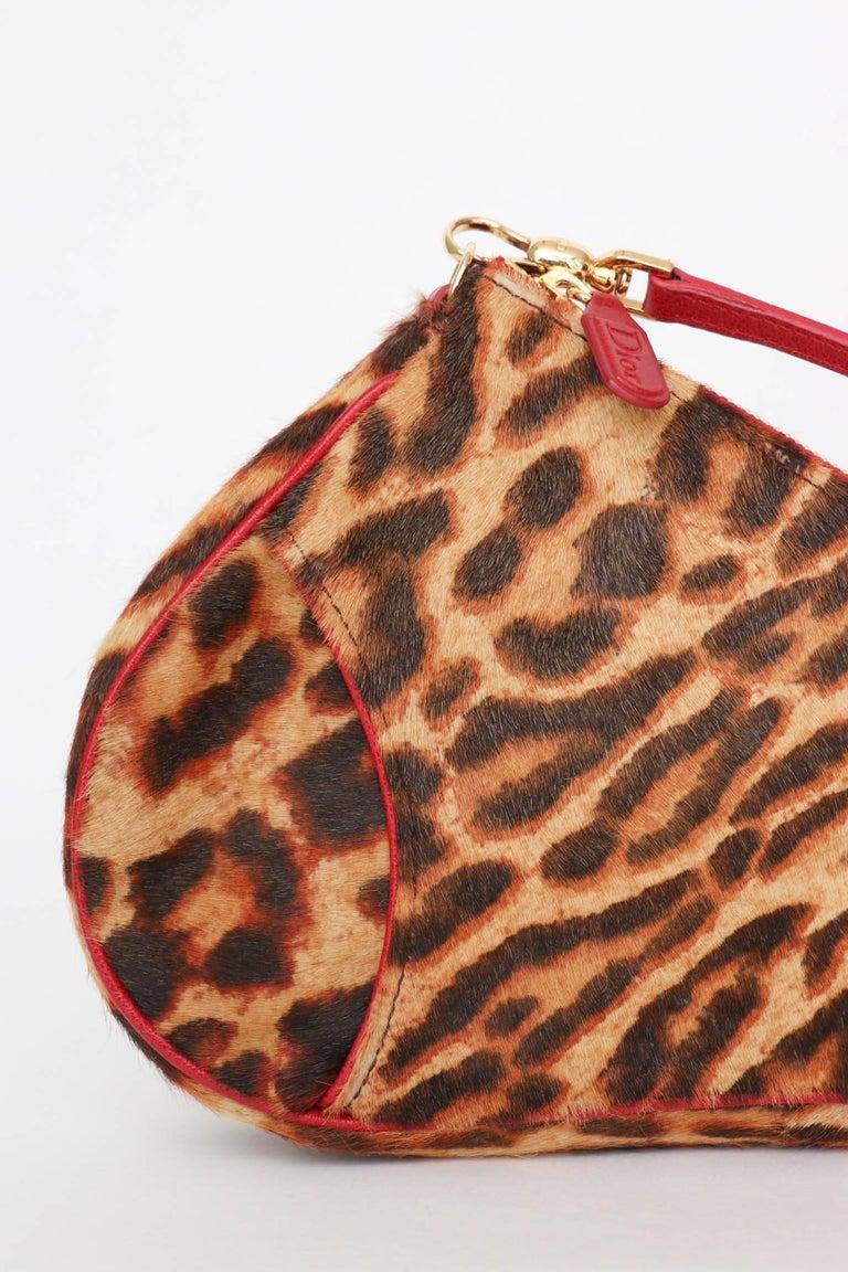 A 1990s Vintage Christian Dior Animal Printed Pony Hair Saddle Bag  For Sale 1