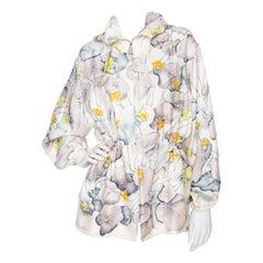 A 1990s Vintage Hermès Floral Silk Jacket
