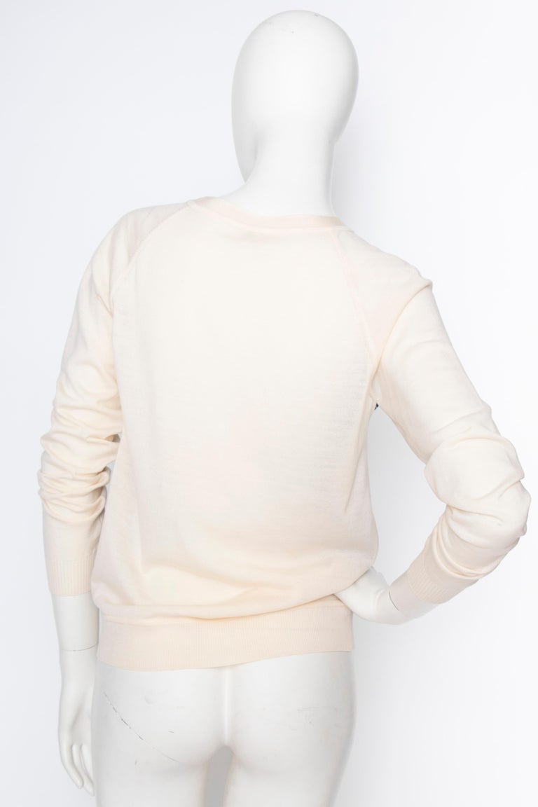 Women's or Men's A 1990s Vintage Hermès Silk & Cashmere Knit Blouse  For Sale
