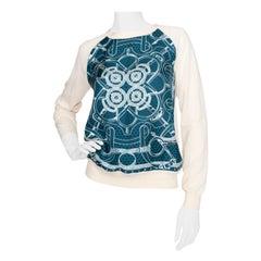 A 1990s Vintage Hermès Silk & Cashmere Knit Blouse