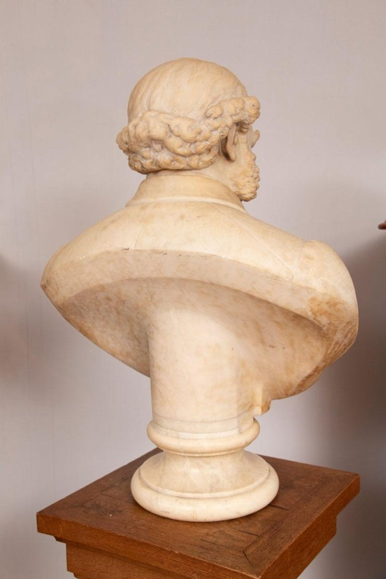 Victorian 19th Century Marble Bust of Sir Thomas Spencer Wells, circa 1879 For Sale