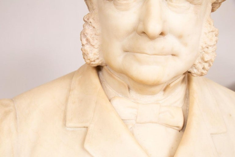 19th Century Marble Bust of Sir Thomas Spencer Wells, circa 1879 In Good Condition For Sale In London, Greenwich