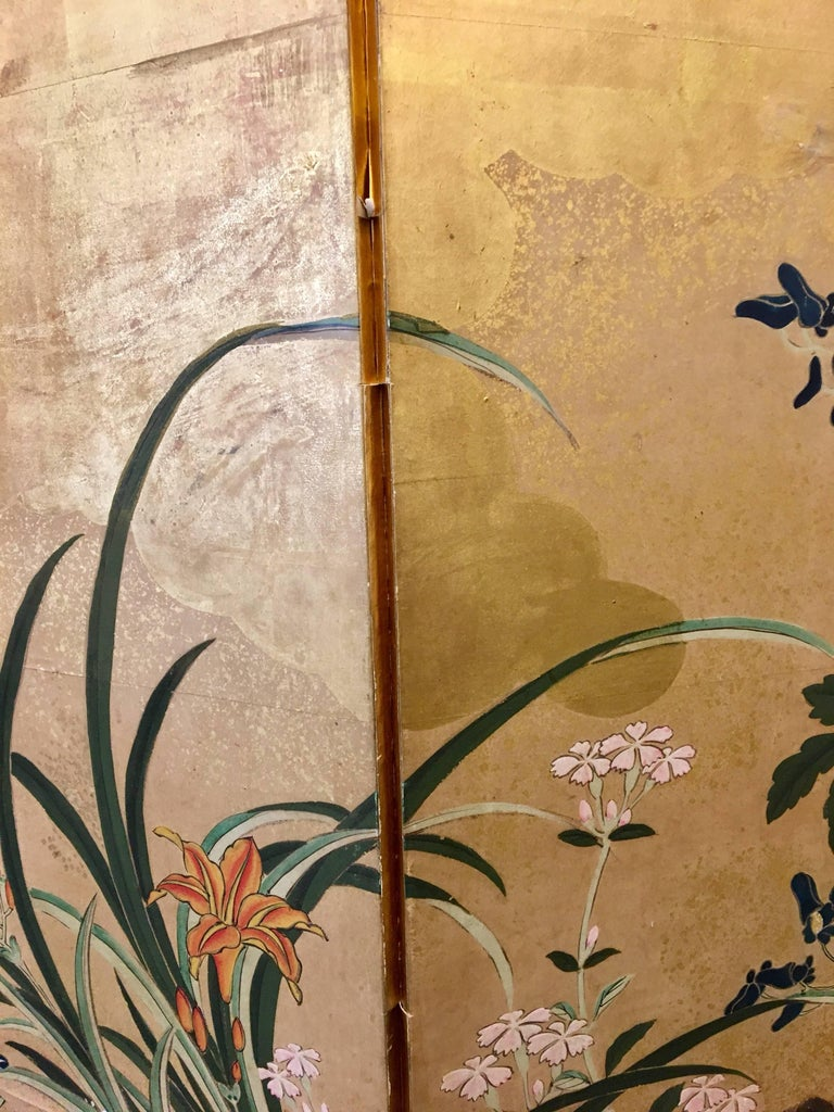 19th Century Six-Panel Screen For Sale 1