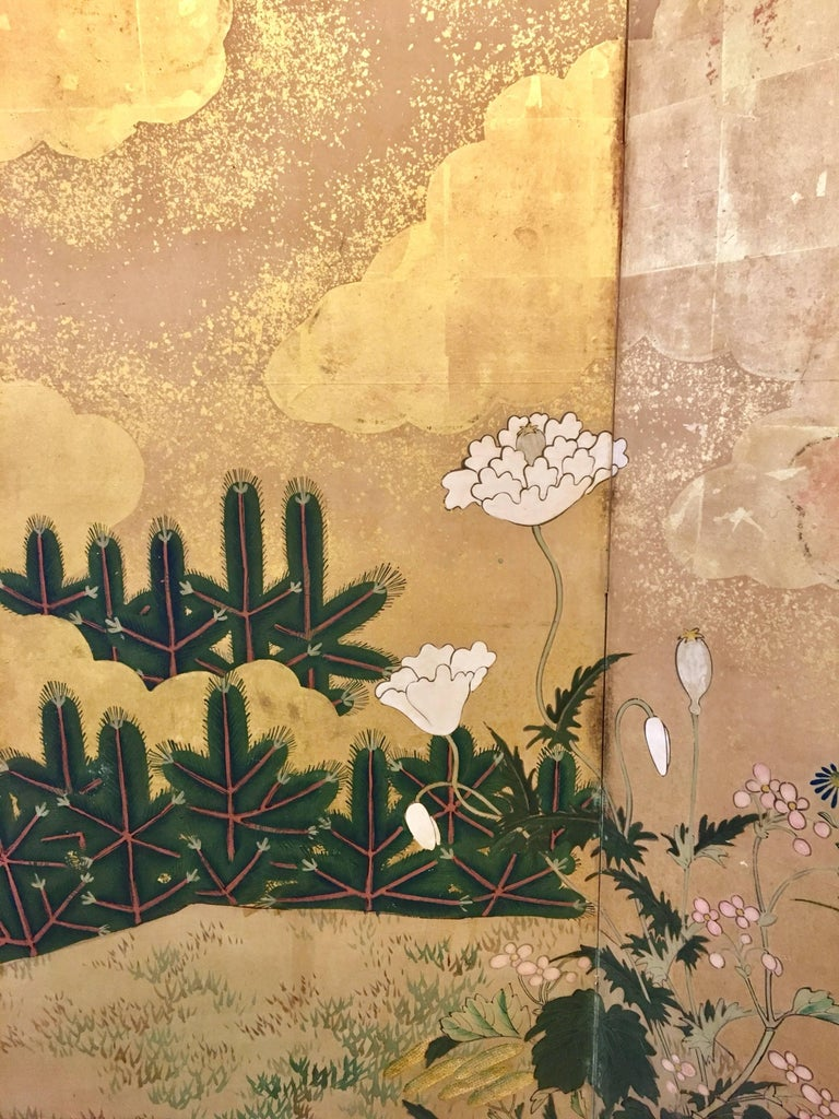 19th Century Six-Panel Screen For Sale 3