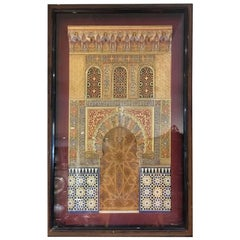 A 19th Century, Alhambra Plaque by Contreras, Spain