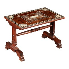 19th Century Anglo Indian Inlaid Low Table