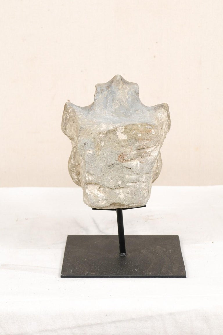 19th Century Aragon Stone Marker with Great Patina on Custom Stand, Spain For Sale 6