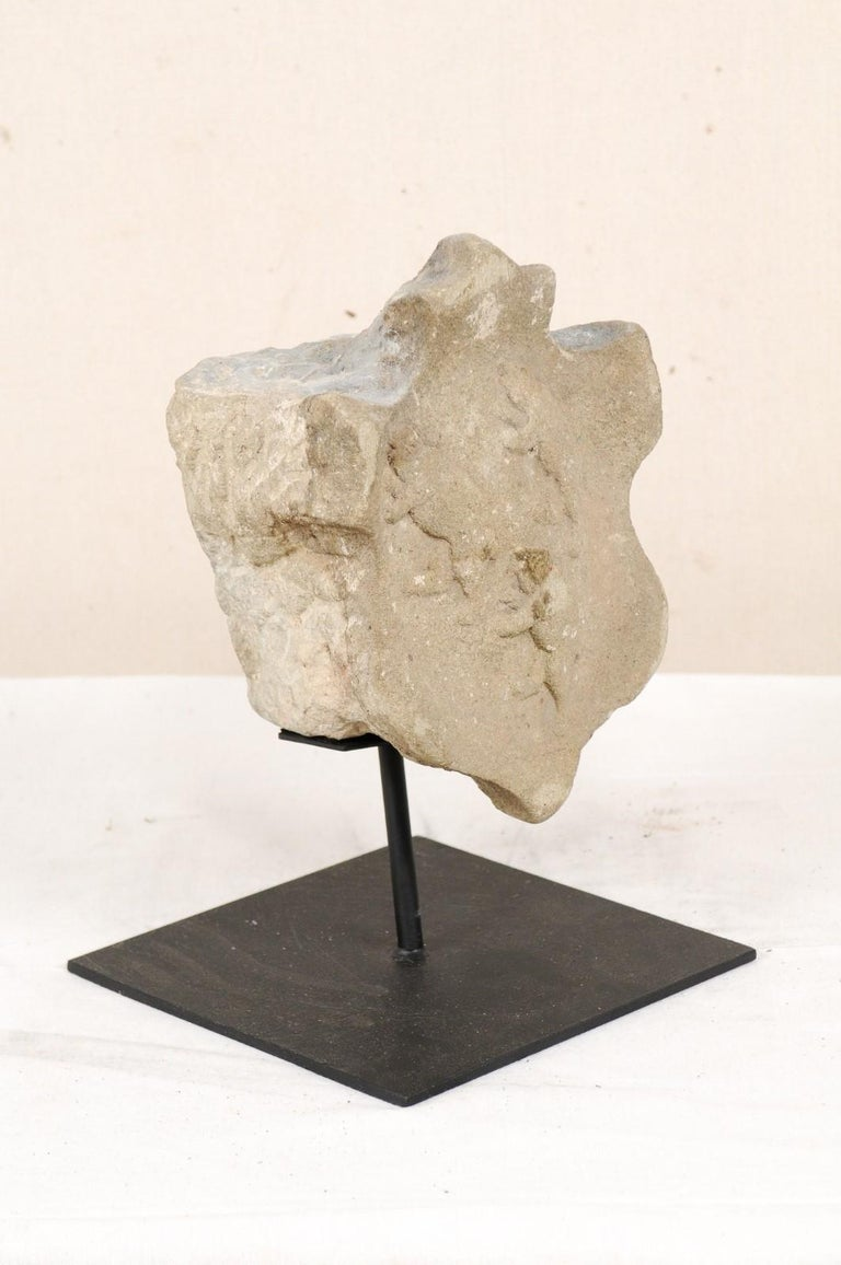 19th Century Aragon Stone Marker with Great Patina on Custom Stand, Spain For Sale 1